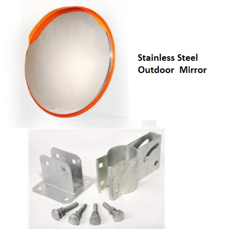 Stainless Steel Outdoor Convex Mirror